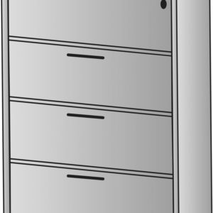 """Napa Four-Drawer Lateral File 36""""X22""""X56 - Slate Grey - OSP Furniture - Contemporary - Commercial"""