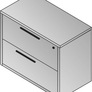 Napa 2-Drawer Lateral File 36X22 - Slate Grey - OSP Furniture - Contemporary - Commercial