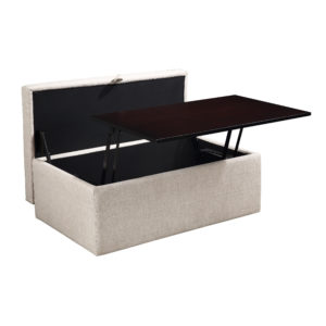 Elmington Storage Ottoman - Linen - OSP Home Furnishings - Contemporary - Residential