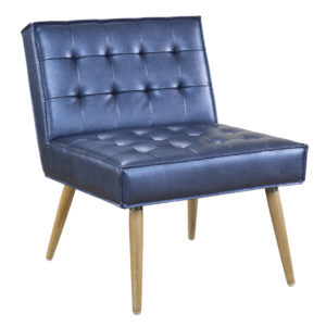 Amity Tufted Accent Chair - Sizzle Azure - OSP Home Furnishings - Midcentury - Residential