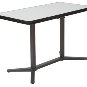 Pneumatic Height Adjustable Table - White/Titanium - Pro-Line II - Contemporary - Commercial