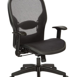Air Grid Managers Chair - Black - SPACE SEATING - Professional - Commercial
