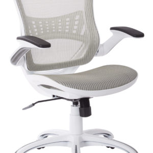 Riley Office Chair - White Mesh - OSP Home Furnishings - Professional - Commercial & Residential