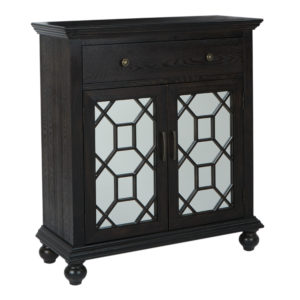 Mancini 2 Door Cabinet - Brushed Dark Coffee - OSP Home Furnishings - Contemporary - Residential