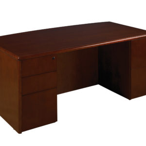 "Sonoma Bow Top Desk 72""X39"" - Dark Cherry - OSP Furniture - Commercial"