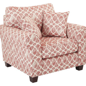 Rolled Arm Chair with 2 Pillows