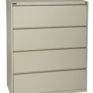 "36"" Wide 4 Drawer Lateral File With Core-Removeable Lock & Adjustable Glides - Putty - OSP Furniture - Commercial"