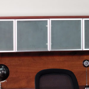 Overhead with Glass Doors 71 x 15 x 36 - Cherry - OSP Furniture - Commercial