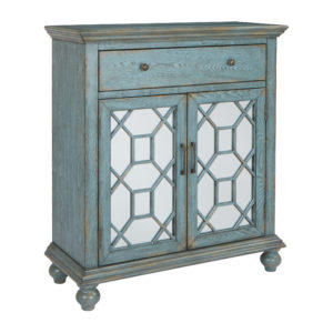 Mancini 2 Door Cabinet - Teal Grey - OSP Home Furnishings - Contemporary - Residential