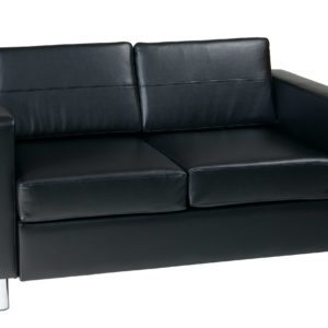 Pacific LoveSeat - Black - Work Smart - Contemporary - Commercial & Residential