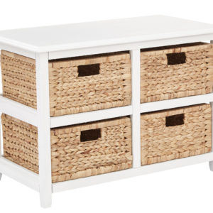 Seabrook Two-Tier Storage Unit - White - OSP Home Furnishings - Country - Residential