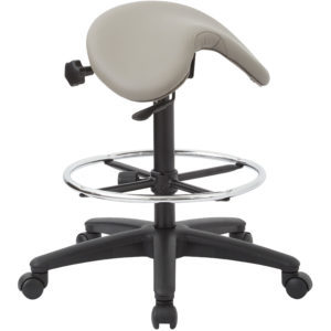 Backless Stool with Saddle Seat - Dillon Stratus - Work Smart - Contemporary - Commercial