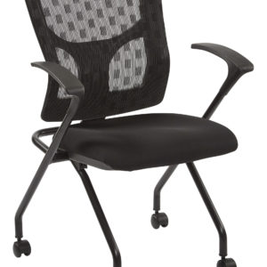 ProGrid Checkered Mesh Back Folding Chair - Black/ Coal - Pro-Line II - Contemporary - Commercial