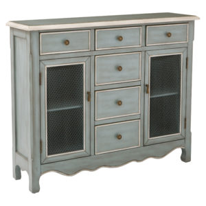 Ashfield Storage Console - Steel Blue - OSP Home Furnishings - Traditional - Residential