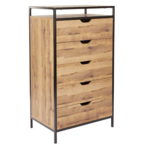 Quinton 5-Drawer Chest - Salvage Oak - OSP Home Furnishings - Contemporary - Residential