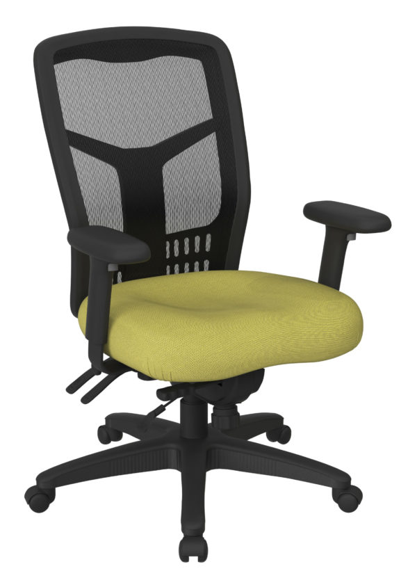 ProGrid High Back Managers Chair - Fun Colors Olive - Pro-Line II - Contemporary - Commercial