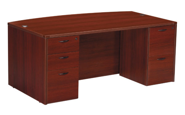 "Napaa Bow Top Desk 71""X41"" - Mahogany - OSP Furniture - Commercial"