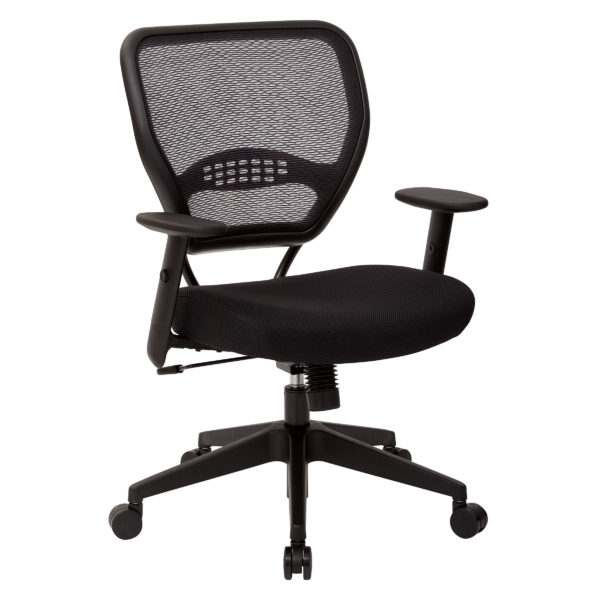 Professional Black AirGrid Back Managers Chair - Black - SPACE SEATING - Contemporary - Commercial