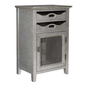 Argento Storage Cabinet - Antique Iron - OSP Home Furnishings - Transitional - Residential