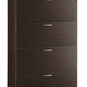 """Napa Four-Drawer Lateral File 36""""X22""""X56 - Espresso - OSP Furniture - Commercial"""