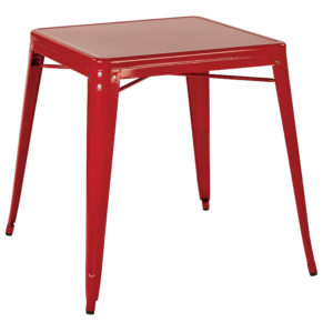 Patterson Metal Table - Red - OSP Home Furnishings - Contemporary - Commercial & Residential