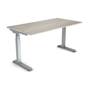 """Ascend II 3 Stage 60"""" x 30"""" Electric Height Adjustable Table - Urban Walnut/Silver - OSP Furniture - Commercial"""