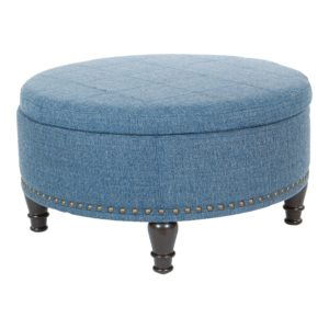 Augusta storage Ottoman - Navy - OSP Home Furnishings - Midcentury - Residential