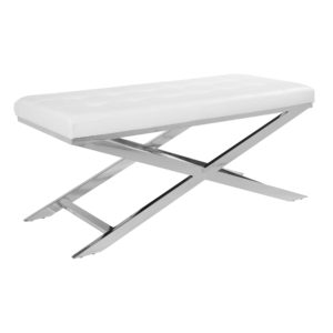 Keaton Bench - White - OSP Home Furnishings - Contemporary - Residential