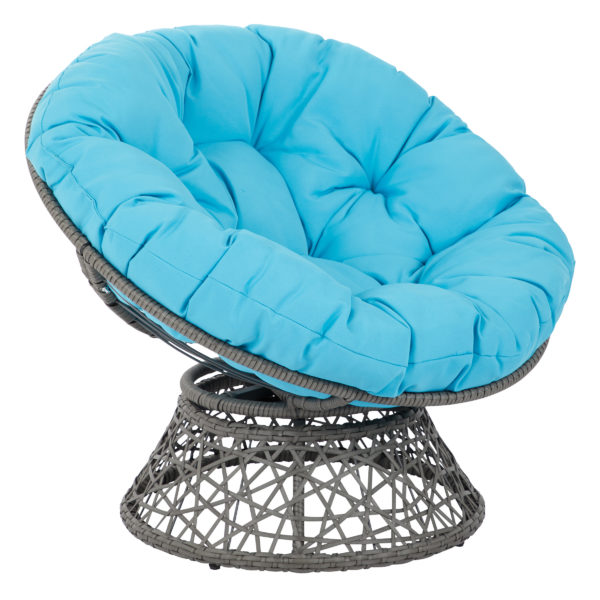 Papasan Chair - Blue - OSP Home Furnishings - Eclectic - Residential