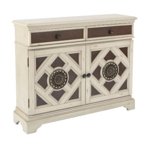 Queensway Storage Cabinet - Antique White/Black - OSP Home Furnishings - Contemporary - Residential