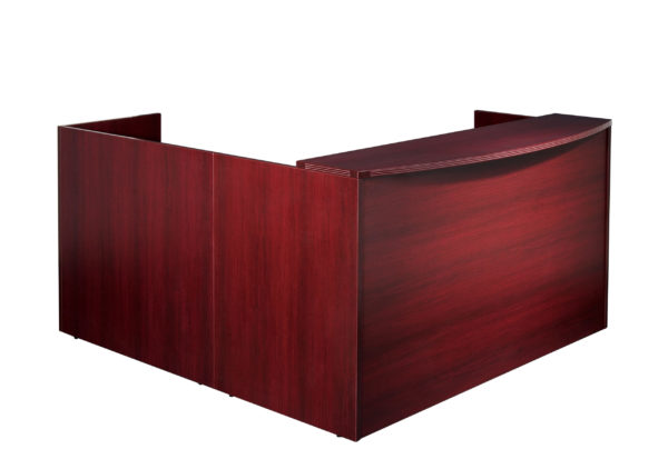 Napa Reception Station 77X77X42H - Mahogany - OSP Furniture - Commercial