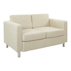 Pacific LoveSeat - Cream - OSP Home Furnishings - Contemporary - Commercial & Residential