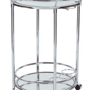 Royse Serving Cart - Chrome Finish - OSP Home Furnishings - Modern - Residential