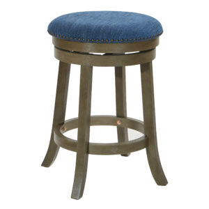 Round Backless Swivel Stool 2-Pack - Grey - OSP Home Furnishings - Contemporary - Residential