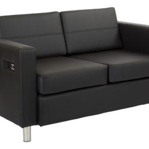 Atlantic Loveseat - Black - OSP Home Furnishings - Modern - Commercial & Residential